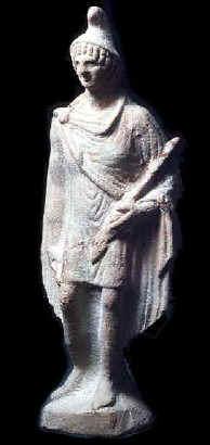 Statuetta in terra cotta che raffigura Orfeo vestito con un costume  orientale Figurina ... 4bc00c817605