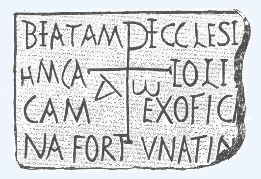 Iscrizione cristiana proveniente dalla basilica di Tagaste