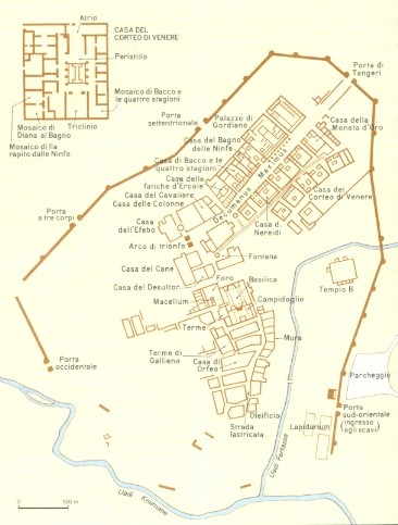 Siti archeologici africani volubilis for Mappa della costruzione di casa